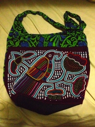 Hand stitched purse, made by the Kuna Indians of the San Blas Islands.