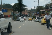 The main road in Boquete.