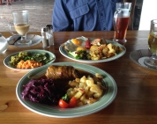 Lunch at a German restaurant just south of our place. Cost was less than $15, including beer, a latte and a cup of tea!