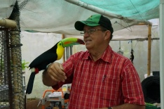Rodrigo and one of his feathered friends
