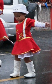 This little one was very serious as she did her little steps to the beat