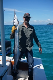 This is the largest catch of the day. Almost as tall as Guy :)