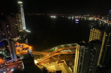 A view of Panamá Bay from our room
