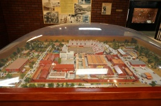 A diorama of the prison. In the center back you can see the stadium where the rodeo was held.