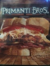 "Cover of the menu. This is the sandwich that made Primanti Bros ""almost famous."""