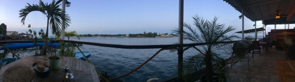 A cool panoramic from our hotel patio