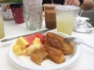 I always got the french toast. Made with a locally baked bread. Great way to start the day!