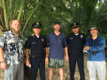 We met and chatted with these 2 officers