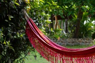 Hammocks are right outside the rooms.