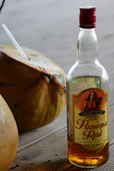 Drink the juice down a little and add rum for the perfect tropical treat!