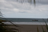 ...a fishing boat cruising by...