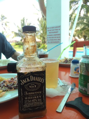 What would breakfast be without Jack Daniels (or picante [hot sauce] in a JD bottle!)